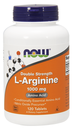 Double Strength L-Arginine by Now Foods. 1000 mg, 120 tablets