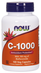 Vitamin C 1000 mg 100 cap Now Foods