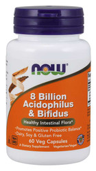 8 Billion Acidophilus & Bifidus 60 cap by Now Foods