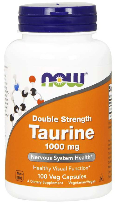 Taurine Double Strength 1000 mg - 100 cap by NOW Foods