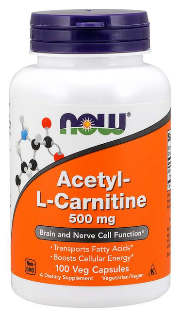 Acetyl-L Carnitine 500 mg 100 caps by Now Foods