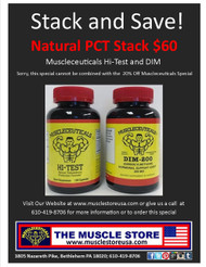 Muscleceuticals Natural PCT Stack: Hi-Test & DIM