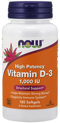 Vitamin D-3 1000 IU - Now Foods