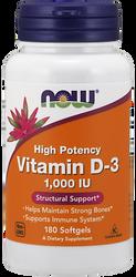 Vitamin D-3 1000 IU - Now Foods