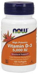 Vitamin D-3 5,000 IU - Now Foods