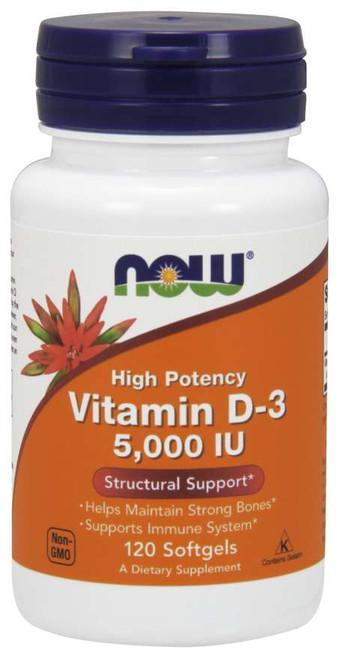 Vitamin D-3 5,000 IU - Now Foods