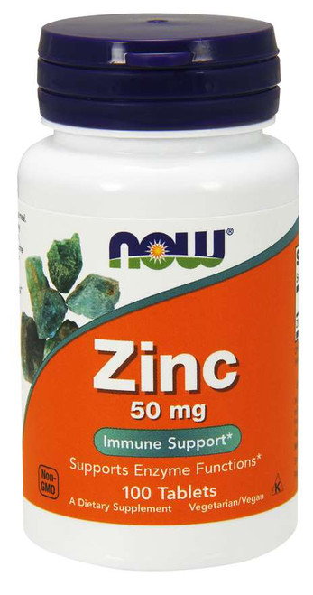 Zinc 50 mg 100 tabs by Now Foods