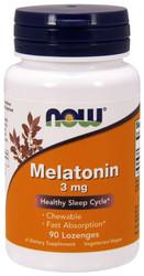 Melatonin 3 mg Lozenges - Now Foods