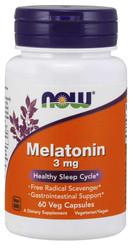 Melatonin 3 mg capsules by Now Foods