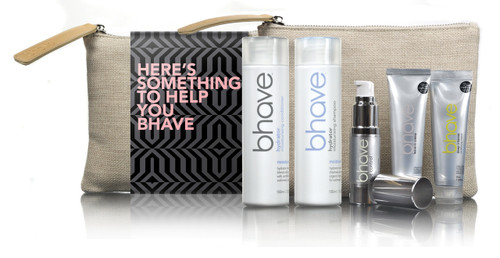 bhave hydrator moisturising pack with hydrator shampoo 100ml, hydrator conditioner 100ml, riot control oil 15ml, deep conditioning masque 35ml and leave in creme 35ml
