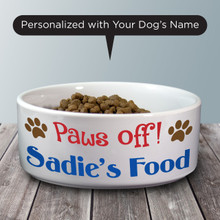 Paws Off! Pet Bowl - Dog Bowl
