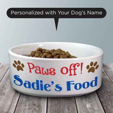 Paws Off! Pet Bowl - Dog Bowl