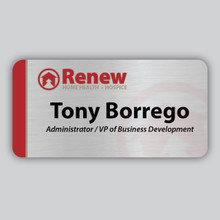 Name Badge made with Aluminum