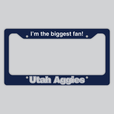 Utah Aggies License Plate Frame