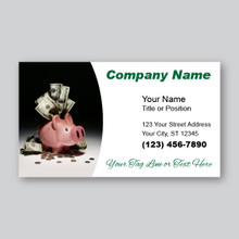 Piggy Bank Business Card Design