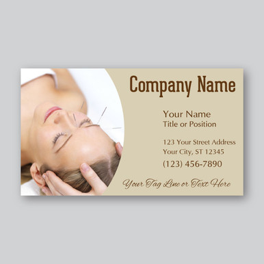 Acupuncture business card design