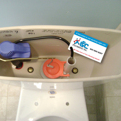 Toilet Tank Tag for Customer Retention