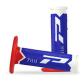 "788 Fluro ""Blue/Red"" Triple Density Progrip Mx Grips"