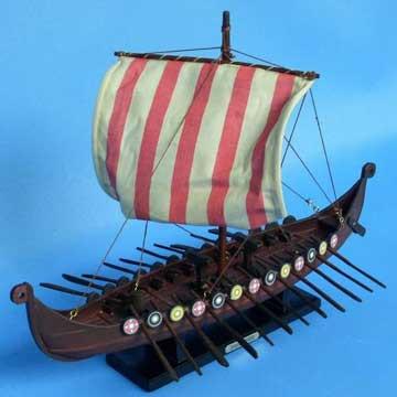 """Drakkar Viking Ship Model 14"""""""