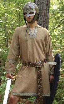 Brown Wool Viking Tunic