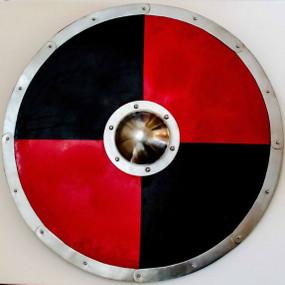 Viking Combat Shield (Red/Black)