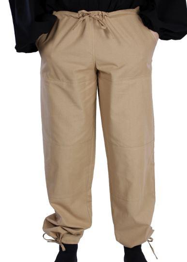 Beige Medieval Pants Front