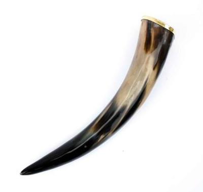 Drinking Horn With Brass Rim 16oz