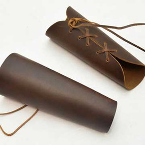 Leather Bracers Brown