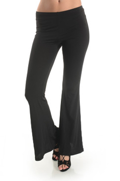 Double Lined Spandex Flare Legging Pants