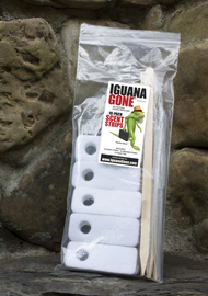 IGUANA GONE® Scent Strips, 10-pack Included free with each 16oz bottle purchase. Strips do not repel iguanas they work with the liquid in repelling iguanas.