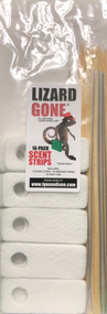 Lizard Gone Scent Strips, 10-pack Included free with each 16oz bottle purchase. Strips do not repel lizards they work with the liquid in repelling lizards