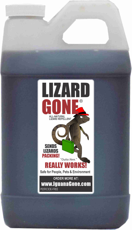 1/2 Gallon refill Lizard Gone liquid scent strips not include the scent strips