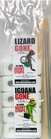 Iguana & Lizard Gone Scent Strips, 10-pack Included free with each 16oz bottle purchase. Strips do not repel iguanas or  lizards they work with the liquid in repelling them!