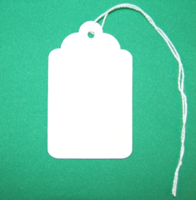 White Key Tag >> 8s Large White Key Tag With String