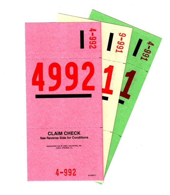 Details about  /2000pcs 3 Part Valet Parking Tickets Numbered Tags with Keyhole