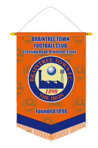 Braintree Town FC, Pennant by ASCAR. Available now from Andreas Carter Sports.
