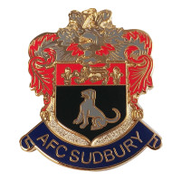 AFC Sudbury, Pin Badge by ASCAR. Available now from Andreas Carter Sports.