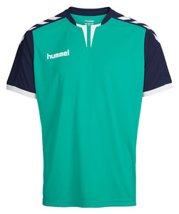 hummel, Kids Home Shirt 2018/19 by hummel. Available now from Andreas Carter Sports.