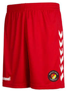 EUFC, Home Match Short by hummel. Available now from Andreas Carter Sports.