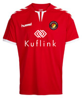 Ebbsfleet United FC official kids home shirt by hummel. Available now from Andreas Carter Sports.