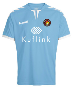 EUFC, Junior Away Match Shirt by hummel. Available now from Andreas Carter Sports.
