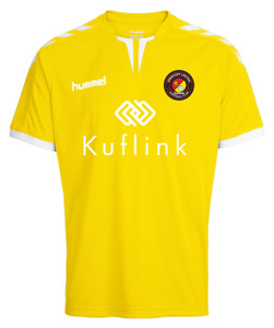 EUFC, Junior Away Goalkeeper Shirt by hummel. Available now from Andreas Carter Sports.