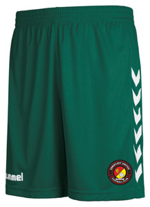 EUFC, Junior Home Goalkeeper Short by hummel. Available now from Andreas Carter Sports.