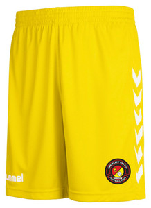 EUFC, Junior Away Goalkeeper Short by hummel. Available now from Andreas Carter Sports.