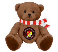EUFC, Maisie Bear with Red Scarf by Ascar. Available now from Andreas Carter Sports.