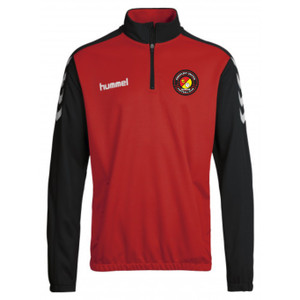 EUFC, Junior Half Zip Travel Top by hummel. Available now from Andreas Carter Sports.