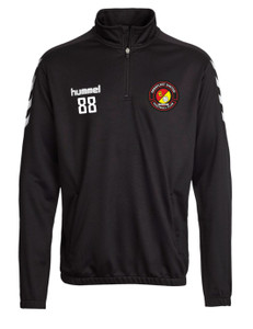 EUFC, Academy Half Zip Top by hummel. Available now from Andreas Carter Sports.