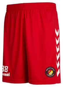 EUFC, Academy Match Short by hummel. Available now from Andreas Carter Sports.