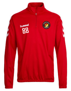 EUFC, Scholars Half Zip Training Top by hummel. Available now from Andreas Carter Sports.