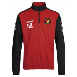 EUFC, Scholars Half Zip Travel Top by hummel. Available now from Andreas Carter Sports.